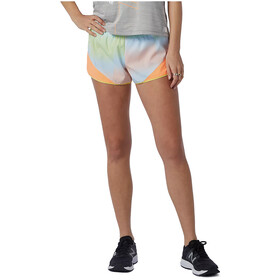 New Balance Printed Fast Flight Split Shorts Women, amarillo/naranja